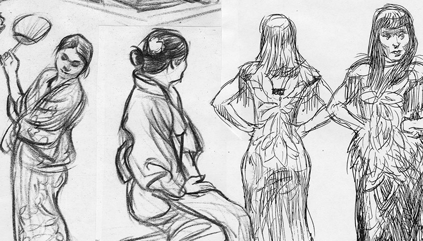 Costumed Figure Drawing